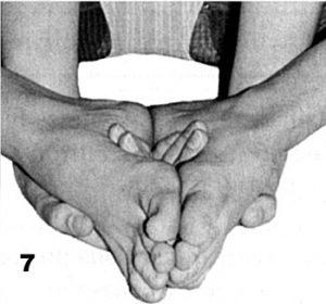 Paso 7 detalhe dos pés